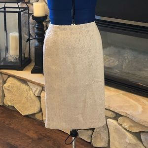 Ann Taylor Pencil Skirt - Champagne in color